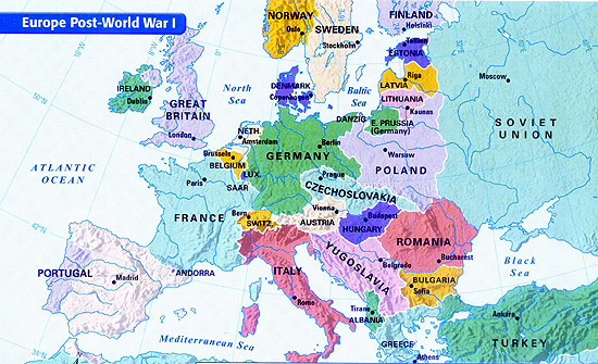 1933 Map Of Europe.Desertoss Licensed For Non Commercial Use Only World War One